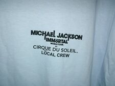Michael Jackson The Immortal World Tour Cirque Du Soleil Crew shirt Blue XL