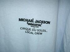 Michael Jackson The Immortal World Tour Cirque Du Soleil Crew shirt Blue XL