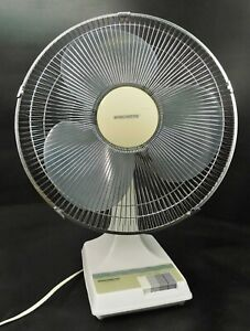 Vintage Windmere Model NR-16 16 Inch 3 Speed Oscillating Grey Blade Fan