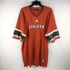 ADIDAS Miami Hurricanes Replica Football Jersey Orange Mens Size 2XL