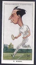 CHURCHMAN-MEN OF THE MOMENT IN SPORT-#38- TENNIS - HIGGS