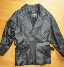 Vintage Wilson Leather Mens Black Lined Thinsulate Soft leather Coat Jacket Lg