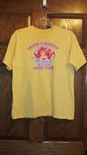 Disney Store Little Mermaid Yellow T Shirt Top Size L Large Girls/Tweens/Teens
