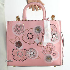 NWT Coach 1941 Rogue with Snakeskin Tea Rose Rivets Satchel Shoulder Bag 26890