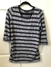 Maternity Tunic Top JeansWest M Long Tee 3/4 Sleeve Striped