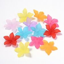 Blüte Acryl farbig gemischt Lilie geöffnet 28x7mm 10 Stück