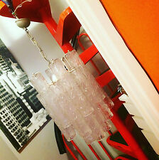Lampadario midcentury Vintage Chandelier ceiling lamp VENINI canne vetro glass