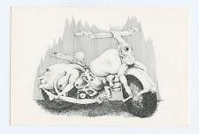 Lee Conklin Exhibition 1992 Oct 14 Postcard Psychedelic Bike