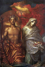 George Frederic Watts  - Time, Death and Judgement   - 24'  CANVAS