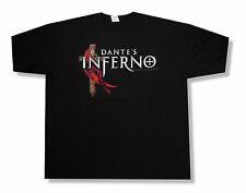 """DANTE'S INFERNO """"CROSS"""" BLACK T-SHIRT NEW OFFICIAL VIDEO GAME ADULT X-SMALL XS"""