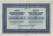 Austria General Land Credit Company Of Austria 1926 W/Coupons