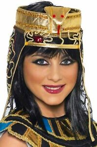 Ancient eqyptian Regina Cleopatra romani Oro Colletto FANCY DRESS ACCESSORIO NUOVO