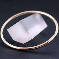 FS700 GENUINE REAL 18K ROSE G/F GOLD SOLID CLASSIC FINE CUFF BANGLE BRACELET
