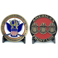 EL7-010 New CBP seal Challenge Coin Field Ops Border Patrol Air and Marine Chall