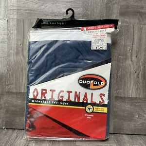Duofold by Champion Men's Originals Wool-Blend Thermal Pants Blue Size XL