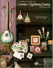 Canterbury Designs - Country Christmas Classics #1 Counted Cross Stitch 1982