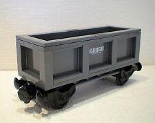 LEGO® Eisenbahn Transportwaggon grau für 4512, 7898, 7939, 60052 - NEU