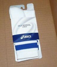 NEW ASICS Old School Crew White Blue Stripe XL 12 plus Men NEW NWT