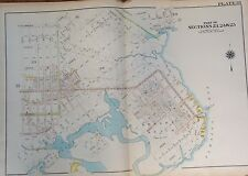 ORIG 1907 MILL BASIN BERGEN BEACH MILL ISLAND  BROOKLYN, NY E 55TH-E77 ATLAS MAP