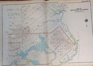 ORIG 1907 MILL BASIN BERGEN BEACH MILL ISLAND  BROOKLYN, NY E 55TH-E77 ATLAS MAP