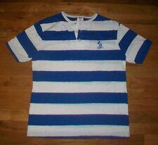 vintage MICKEY MOUSE BLUE WHITE STRIP t shirt M 50/50 Walt disney donald duck