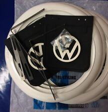 "14"" tyre white wall insert trim&Mud flaps Set Fit: VW Bus T1 T2 Samba bay window"