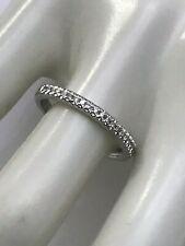 EFFY 14k White Gold Diamond Wedding Band Size 7 - 2.5 Grams