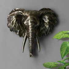 Vintage Wall Mounted Sculpture Resin Elephant Statue Hanging Home Art Decorative