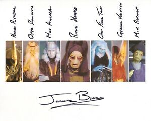 Star Wars photo signed by Jerome Blake + all seven characters!