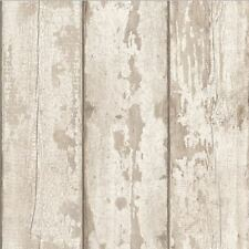Arthouse White Washed Wood Panel Distressed Grey Wallpaper 694700