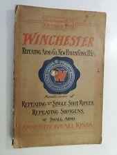 Original 1911 Winchester 202 Page Sales Catalog Rifles Shotguns Ammo Parts