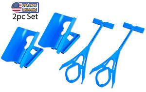2 Easy Sock On & Off Helper Aid - Shoe Horn Sock Assistant Tool