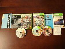 2 Game Lot GRAND THEFT AUTO IV + V 5 Five - Xbox 360 Complete w/ Map CIB