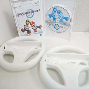 Nintendo Wii Game MARIO KART / 2 Wii steering Wheels  ver. Japan