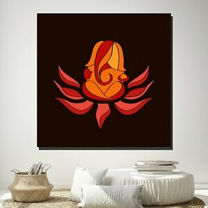 Blessings of Ganesh Indian Hindu Gods Canvas Art Print for Wall Decor