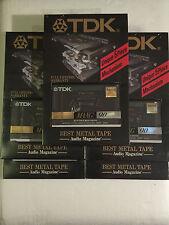 Set of 5 New Sealed TDK MA-XG 90 Metal Tape  Fermo in Original Package  Japan