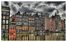 Quadro moderno AMSTERDAM 100x60 olanda arredo casa soggiorno viaggio vacanza