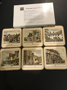 Pimpernel Boxed set of 6 English Inns / pubs coasters