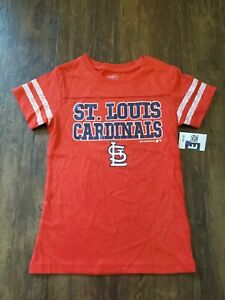 MLB St Louis Cardinals T-Shirt Size Medium 7/8 Girls Baseball