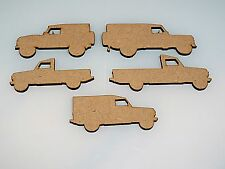 PACK of 5  Mixed Model Era Land Rover blanks embelishments plaques