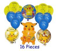 Pokemon Go Pikachu Helium Balloon Set (16 pieces) Birthday Party Decoration