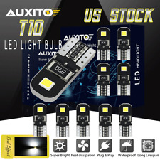 10Pcs White LED Interior Dome Map License Light Bulb T10 2825 168 158 194 CANBUS