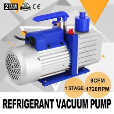 9CFM 1 Stage Refrigerant Vacuum Pump Refrigeration Air Conditioning Gauges Tools