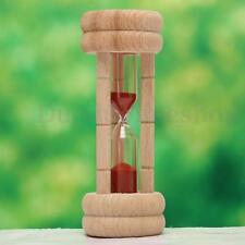 3 Minutes Wood Frame Glass Sand Hourglass Sandglass Egg Cooking Timer Decor Gift
