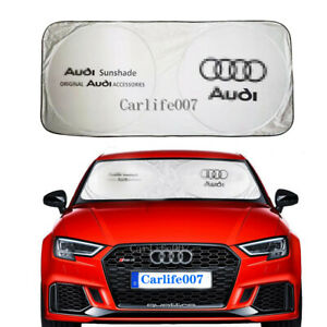 Car Sunshade Windshield Cover Foldable Block UV Rays Protect Sun Visor for Audi