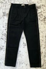 New Zara Boys Twill Slim Piped Chino Pants Faded Black 11/12 Years