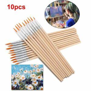 Art Supplies Wood Handle Paint Brushes Drawing Brush Painting Pen Hook Line Pen