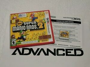 New Super Mario Bros. 2 (3DS) with Case and Manual | Authentic | VG Condition