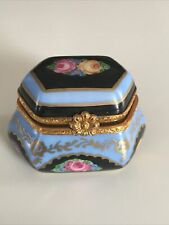 Limoges—Hand Painted (Peint Main) Small Trinket Box—French—Signed Pd—France