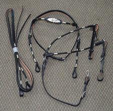 Full Size Western Show Leather Bridle Set (Black)